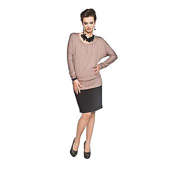Long Sleeve Stretch Maternity Top