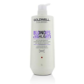 Goldwell Dual Senses Blondes & Highlights Anti-yellow Shampoo (luminosity For Blonde Hair) - 1000ml/33.8oz