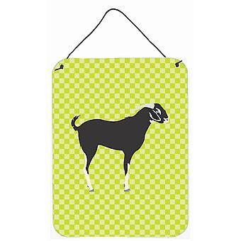 Noir Bengale chèvre porte accrocher impressions ou mur vert