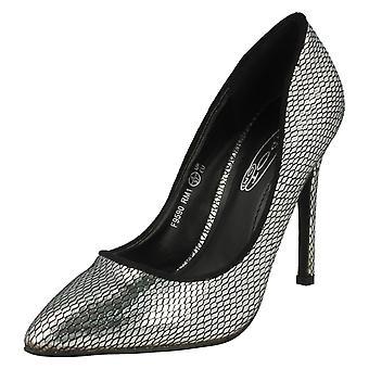 Mancha de senhoras no salto alto apontou dedo cobra Design tribunal sapato F9590