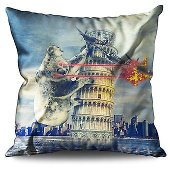 Pisa Tower Italy Funny Linen Cushion 30cm x 30cm | Wellcoda