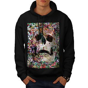 Psychedelic Skull Men BlackHoodie   Wellcoda