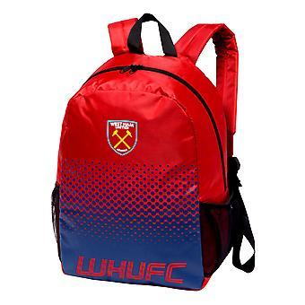 West Ham United FC Fade Design Football Crest Backpack