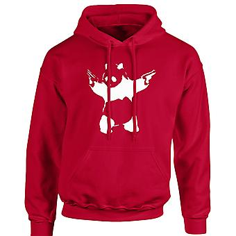 Banksy Panda Guns Unisex Hoodie 10 Colours (S-5XL) by swagwear