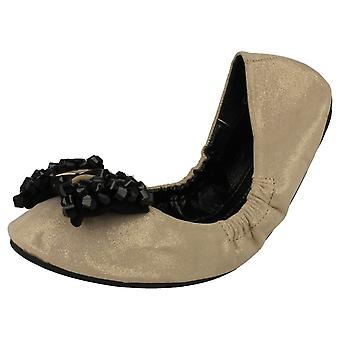 Ladies Spot On Foldable Dolly Shoes