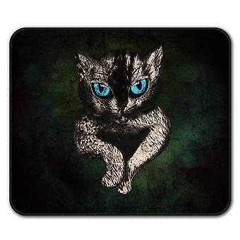 Blue Eyes Cute Furry  Non-Slip Mouse Mat Pad 24cm x 20cm | Wellcoda