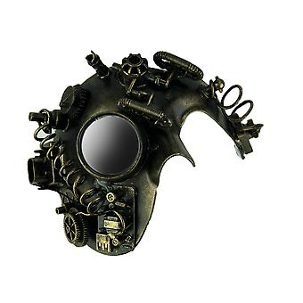 Metallic Gold Steampunk Phantom Adult Costume Mask