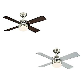 Ceiling fan Colosseum Nickel with LED and remote