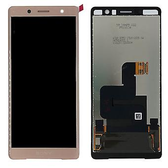 Sony display LCD complete unit for Xperia XZ2 compact H8314 / H8324 pink spare parts new