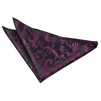 Mouchoir de poche Floral noir & violet