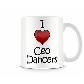 Ik heb liefde Ceo dansers afgedrukt mok