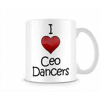 I Love Ceo Dancers Printed Mug