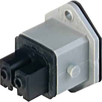 Hirschmann 932 047-106-1 Mains connector STAKEI Socket, vertical vertical Total number of pins: 2 + PE 16 A Grey 1 pc(s)