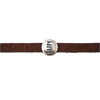 Damen - Armband - Happy - WISHES - Braun - Dunkel - Magnetverschluss