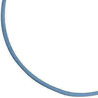 Seidencollier 925/-S hellblau blau Seidenband Seidenkordel ca. 42 cm