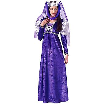 Renaissance Queen Medieval Purple Gown Game of Thrones Womens Costume