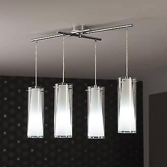 Eglo Pinto Clear And Frost Glass 4 Pendant Drop Light