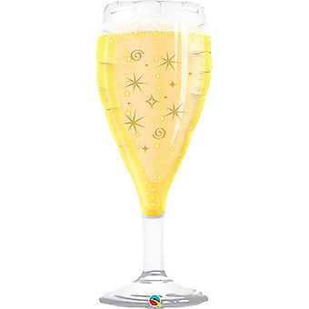Qualatex 39 Inch Bubbly Wine Glass Shaped Foil Balloon