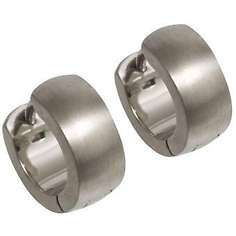 Ti2 Titanium Cuff Hoop Earrings - Silver