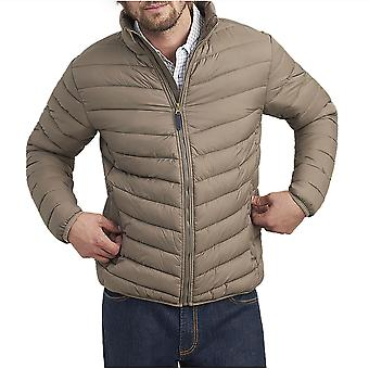 Julios hombres ir a contraste ligero abrigo acolchado