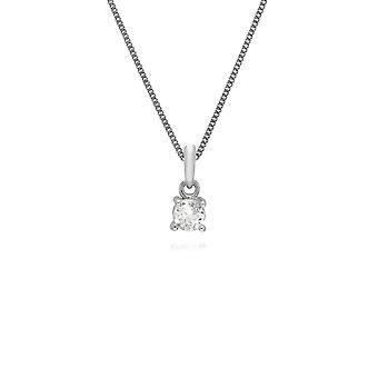 Essential Round White Topaz Pendant Necklace in 925 Sterling Silver 253P257801925