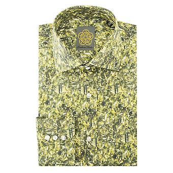 Gresham Blake Broken Glass Print Mens Shirt