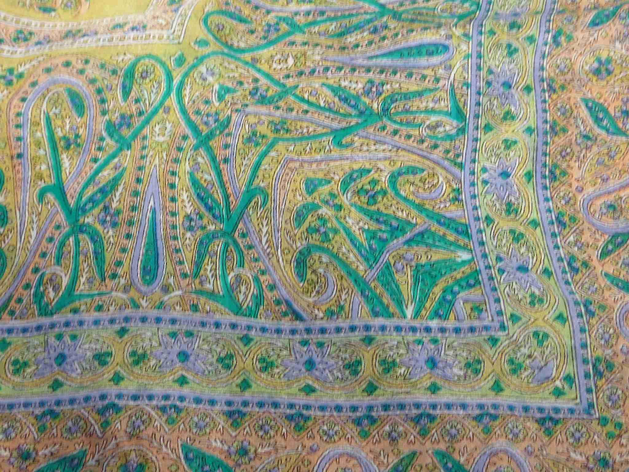 Mulberry Silk Traditional Square Scarf Chail Green by Pashmina & Silk