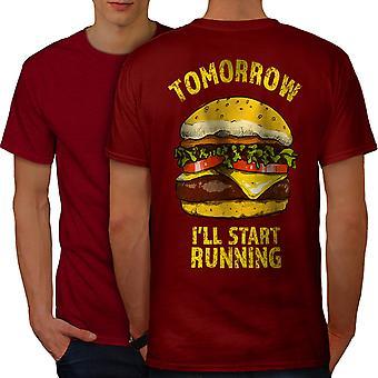 Workout Gym Funy Men RedT-shirt Back | Wellcoda