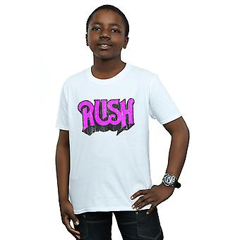 Rush jungen Distressed Logo T-Shirt