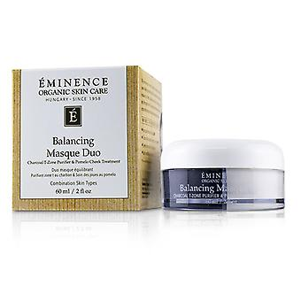 Eminence Balancing Masque Duo: Charcoal T-zone Purifier & Pomelo Cheek Treatment - For Combination Skin Types - 60ml/2oz