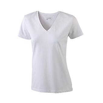 James and Nicholson Womens/Ladies Stretch V-Neck Tee