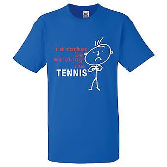 Mężczyzn I raczej oglądanie tenisa Royal Blue Tshirt