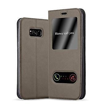 Cadorabo tilfelle for Samsung Galaxy S8 PLUS tilfelle tilfelle dekselet - telefonetui med magnetisk lås, stativ funksjon og 2 visning vinduer - Case Cover Beskyttende tilfelle Bok Folding Stil