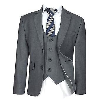 Мальчики Slim Fit серый костюм набор