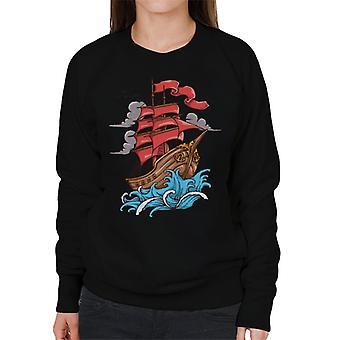 Schiff Segel auf dem Meer Frauen Sweatshirt