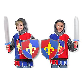 Childrens Melissa and Doug Knight Fancy Dress Costume Age 3-6