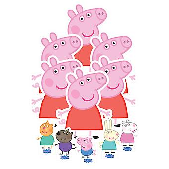 Peppa Pig & Friends Tavolo Top Cartone Taglio / Standees Party Pack di 11