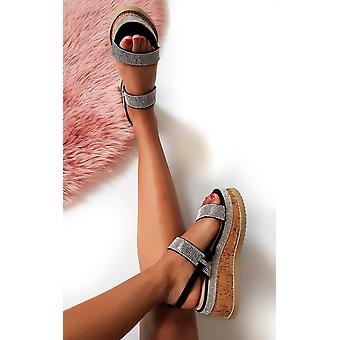 IKRUSH женские Rach Diamante украшенные Flatform сандалии