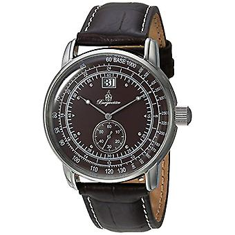 Burgmeister Quartz men's watch with analog display and brown leather bracelet bm333___195