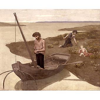 De arme visser, Pierre Puvis de Chavannes, 50x40cm