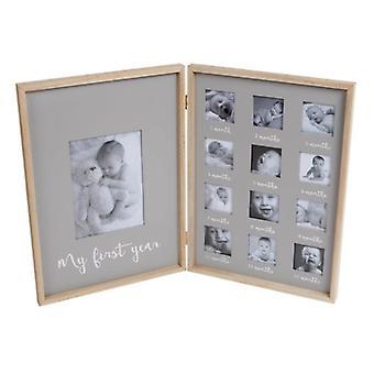 Cadre photo gris «Ma première année»