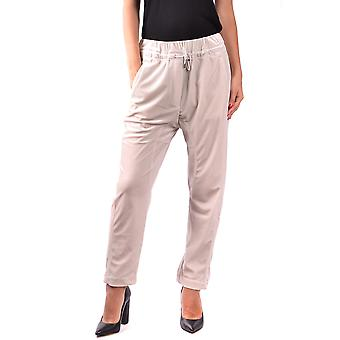 Brunello Cucinelli Ezbc002007 Women's Beige Polyester Pants