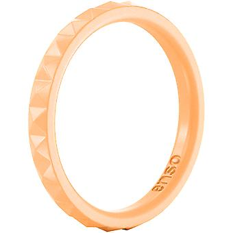 Enso Rings Pyramid Stackables Series Silicone Ring - Tangerine