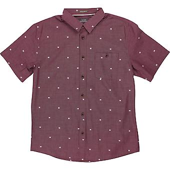 Quiksilver Mens Waterman Tribal Markings SS Shirt - Tawny Port Red