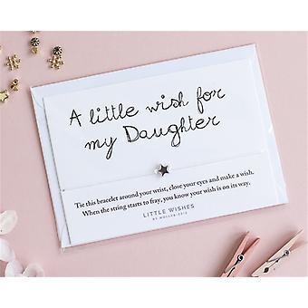 משאלה קטנה צמיד קסם לבת שלי עם מעטפה