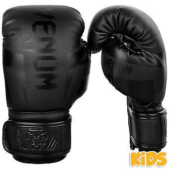 Niños de Venum guantes de Boxeo Elite - negro mate