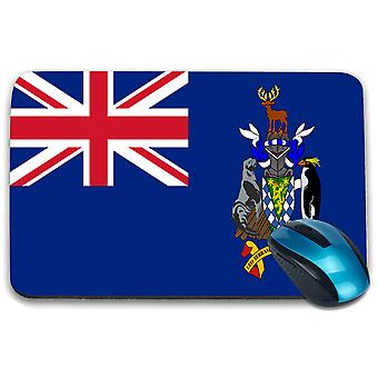 i-Tronixs - South Georgia and the South Sandwich Islands Flag Printed Design Non-Slip Rectangular Mouse Mat for Office / Home / Gaming - 0232