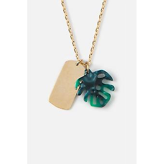 Orelia Jewellery Tag Resin Palm Cluster Ditsy Necklace