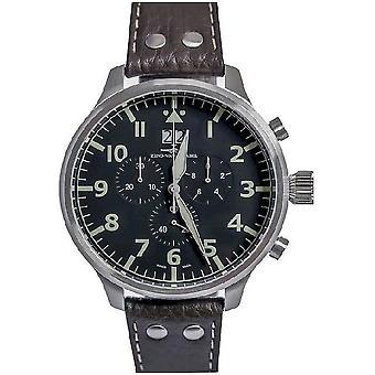 Zeno-watch mens watch of Super oversized Chrono Navigator 6221N-8040Q-a1