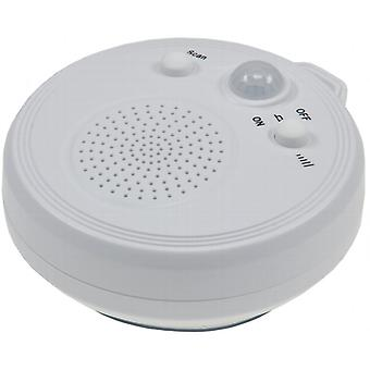 Shower radio with PIR sensor and suction cup radio PIR sensor motion detector